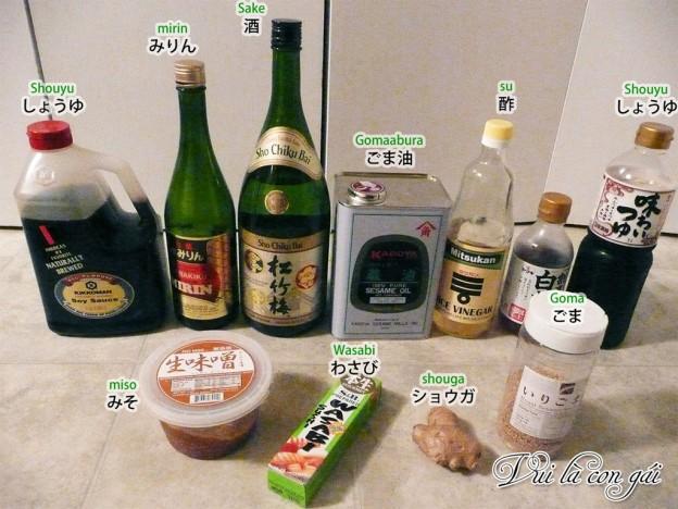 Các gia vị cơ bản để nấu món ăn Nhật Bản